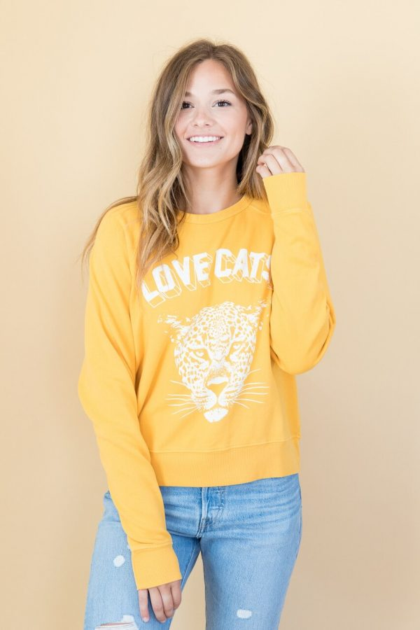 Love Cats Varsity Sweatshirt